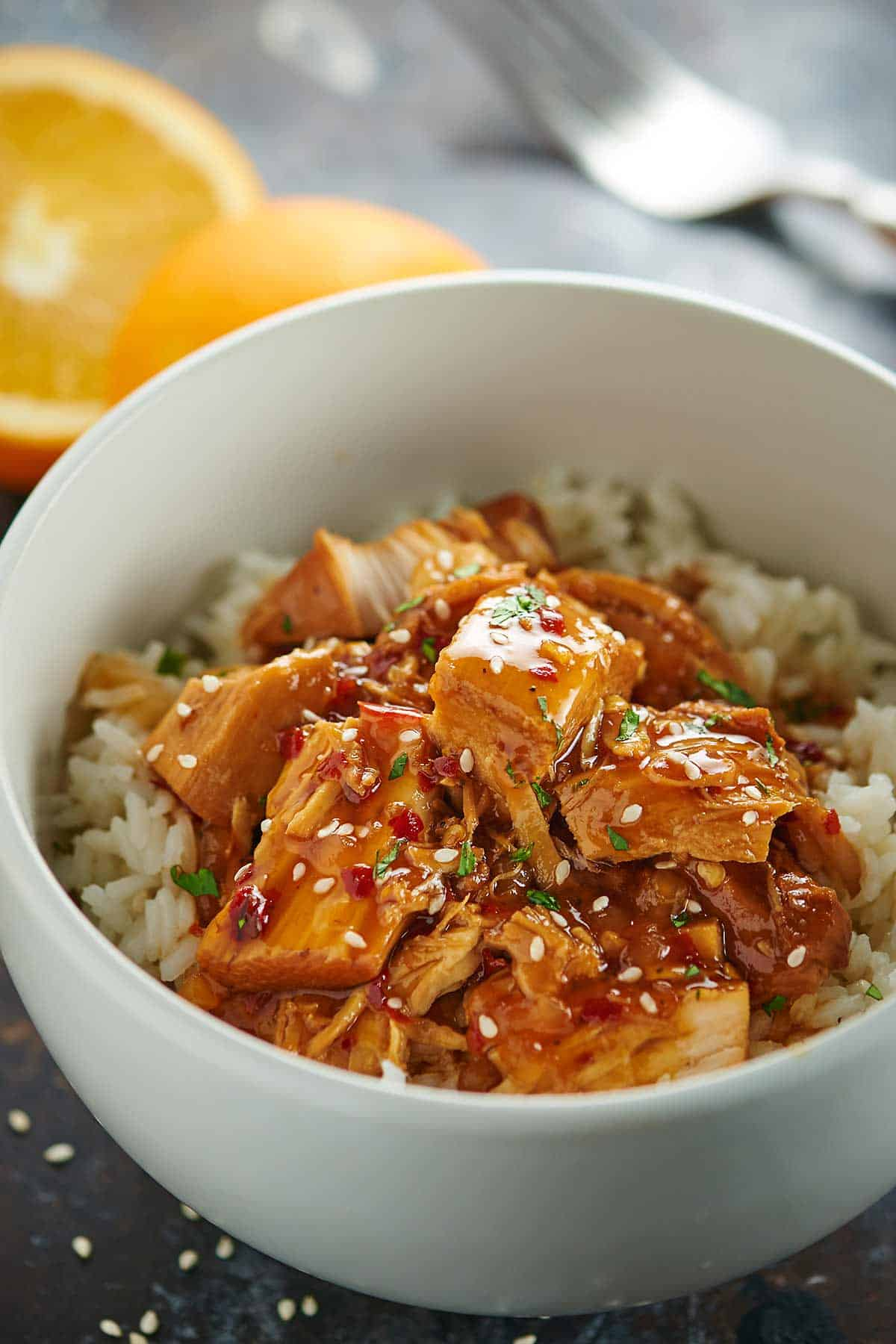 Crockpot Orange Chicken Recipe Lightened Up Healthy Quick Easy
