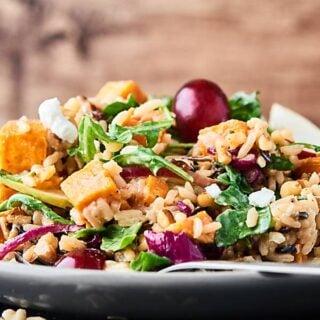 Roasted Sweet Potato and Wild Rice Salad Recipe
