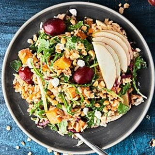 This Roasted Sweet Potato and Wild Rice Salad makes the perfect, healthier, light fall lunch or vegetarian side dish addition to your Thanksgiving menu!showmetheyummy.com