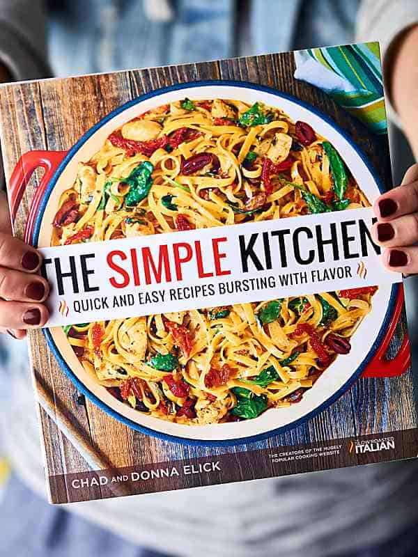 The Simple Kitchen cookbook held
