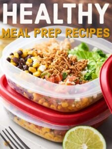 Healthy Meal Prep Recipes 2018. Recipes for breakfast, lunch, snacks, dinner, and desserts that can be made in advance! showmetheyummy.com #healthy #mealprep