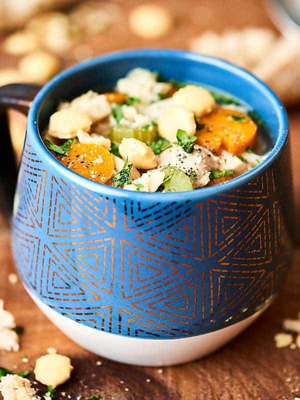 mug of chicken noodle soup
