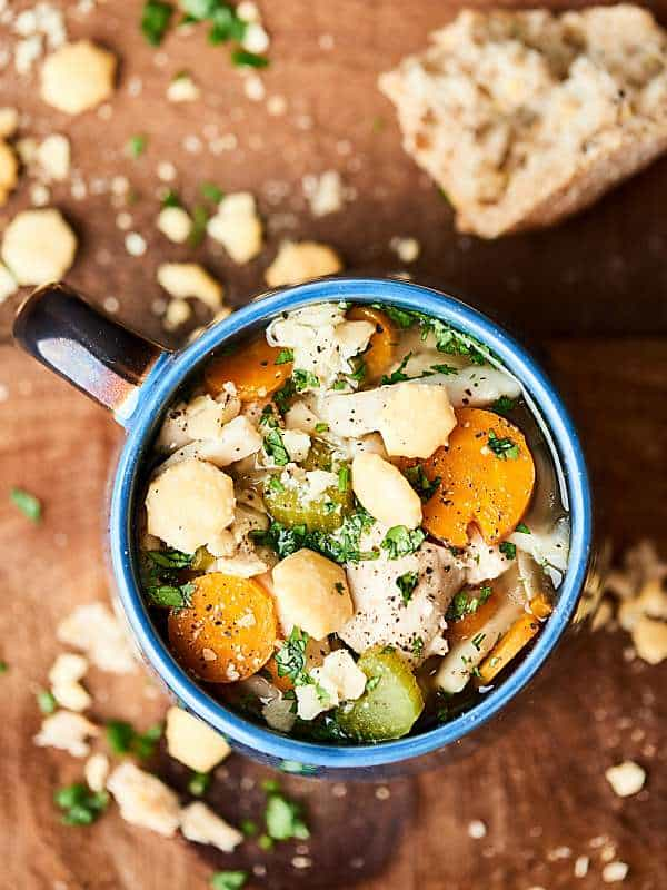 This Instant Pot Chicken Noodle Soup is quick, easy, cozy, healthy-ISH, and so delicious! Full of egg noodles, tender chicken, spices, and veggies! Ready in 30 mins! showmetheyummy.com #instantpot #soup