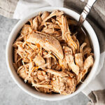 This Instant Pot Shredded Chicken Recipe uses frozen chicken breasts! Quick. Easy. Flavorful. Gluten Free. Perfect for meal prep and a great base for so many different recipes! showmetheyummy.com #instantpot #chicken