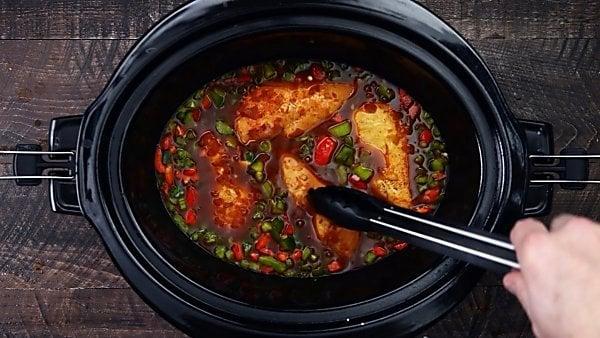 chicken and veggies in crockpot