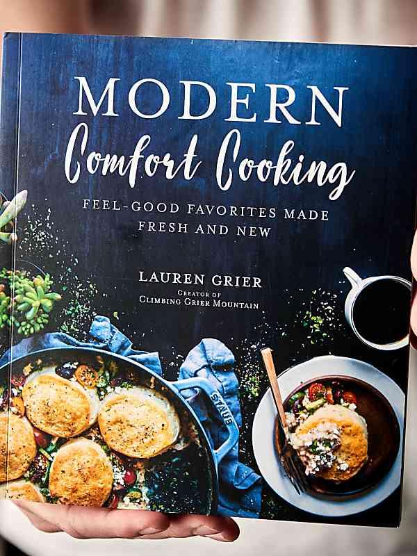 """""""Modern Comfort Cooking"""" cookbook held"""