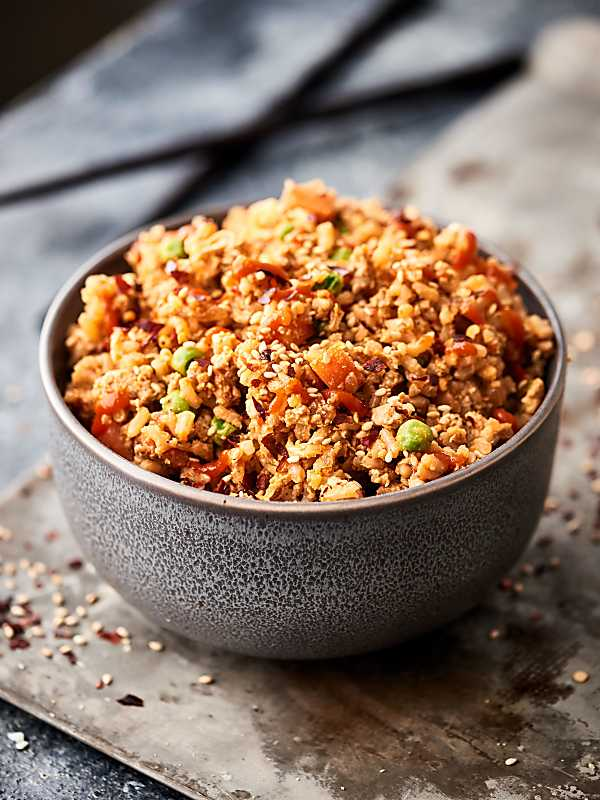 ground turkey fried rice recipe w brown rice 15 min healthy dinner