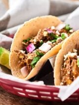 These Instant Pot Carnitas are easy, pretty darn healthy, and absolutely delicious. Full of amazing spices and fresh citrus juices. Perfect for tacos, nachos, quesadillas, salads, and more! showmetheyummy.com #carnitas #instantpot