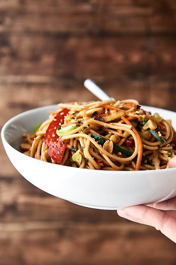 Show me the yummy easy recipes for yummy food this asian pasta salad recipe is loaded with a homemade dressing sesame oil vinegar forumfinder Image collections
