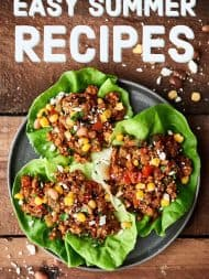 Easy Summer Recipes for breakfast, lunch, sides & salads, dinner, desserts, and drinks! Because let's be real, summer is all about less cooking inside and MORE playing outside! showmetheyummy.com #summer #recipes