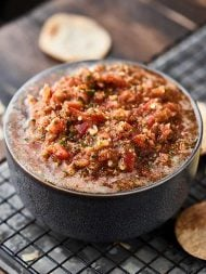 This Fresh Salsa Recipe is easy summer perfection! This no-bake recipe is loaded with fresh, juicy tomatoes, onion, garlic, jalapeños, fresh cilantro, and plenty of lime juice! showmetheyummy.com #salsa #recipe #healthy #summer