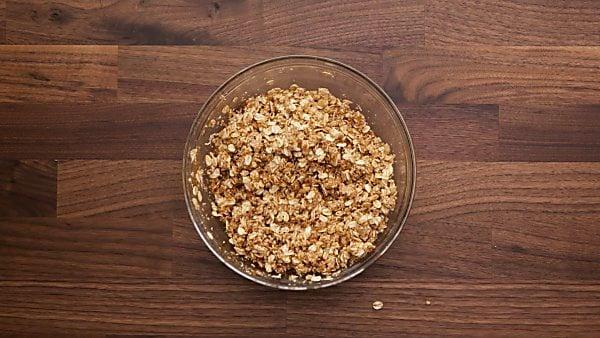 oat crust ingredients in mixing bowl
