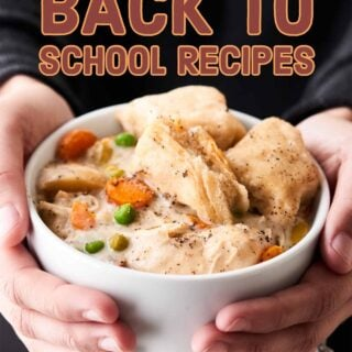 Quick and easy make ahead back to school recipes for breakfasts, lunches, after school snacks, dinners, and desserts! Mostly healthy, all easy and delicious! showmetheyummy.com #backtoschool #recipes