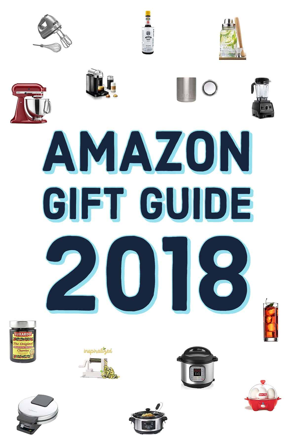 Amazon Gift Guide 2018 for the baker, the cook, the coffee lover, the trend setter, and the cocktail lover! showmetheyummy.com #holiday #giftguide #amazon