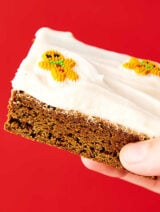 Gingerbread Cookie Bars. A cross between a cookie and a brownie, these bars are soft, chewy, dense, yet so light and full of cozy gingerbread spices. Perfect served warm with vanilla ice cream or served room temperature or chilled with an easy fluffy cream cheese frosting! showmetheyummy.com #gingerbread #cookie #bars #creamcheese #frosting
