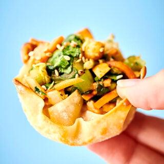 Chinese Chicken Salad Wonton Cups Recipe