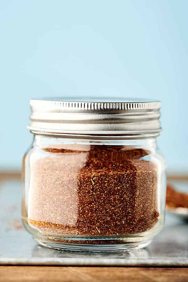jar of homemade taco seasoning