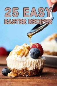 25 Easy Easter Recipes 2019. Everything from brunch eats and treats to side dishes, dinners, and desserts! showmetheyummy.com #easter #brunch #sidedish #dinner #dessert