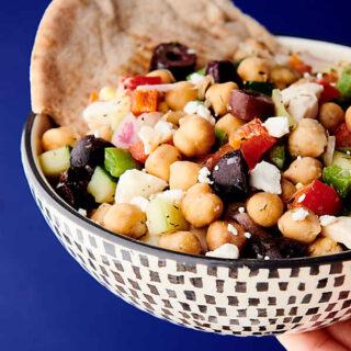 Mediterranean Chickpea Egg Salad Recipe