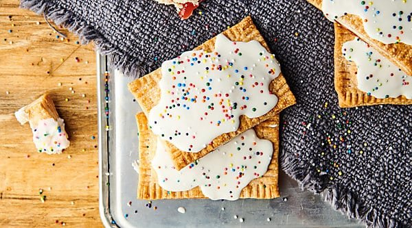 Air Fryer Strawberry Pop Tarts horizontal overhead