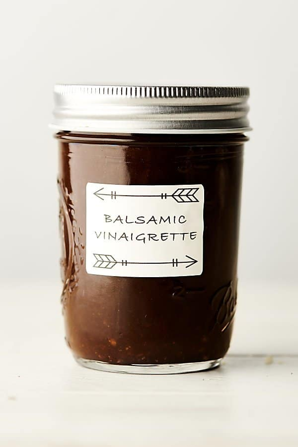 balsamic vinaigrette in mason jar