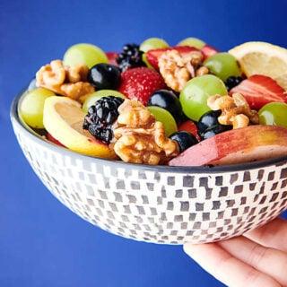 Fruit Salad with Honey Walnuts Recipe