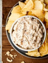 french onion dip above