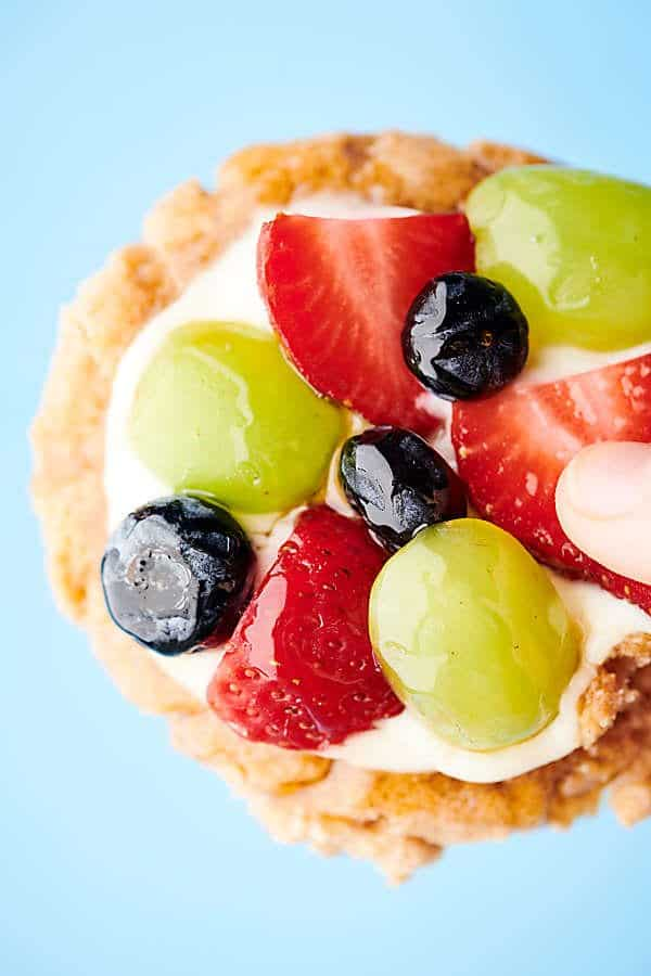 healthy fruit pizza cookies profile