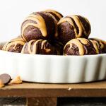 no bake chocolate peanut butter energy bites horizontal
