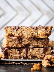 easy granola bar recipe stacked bars