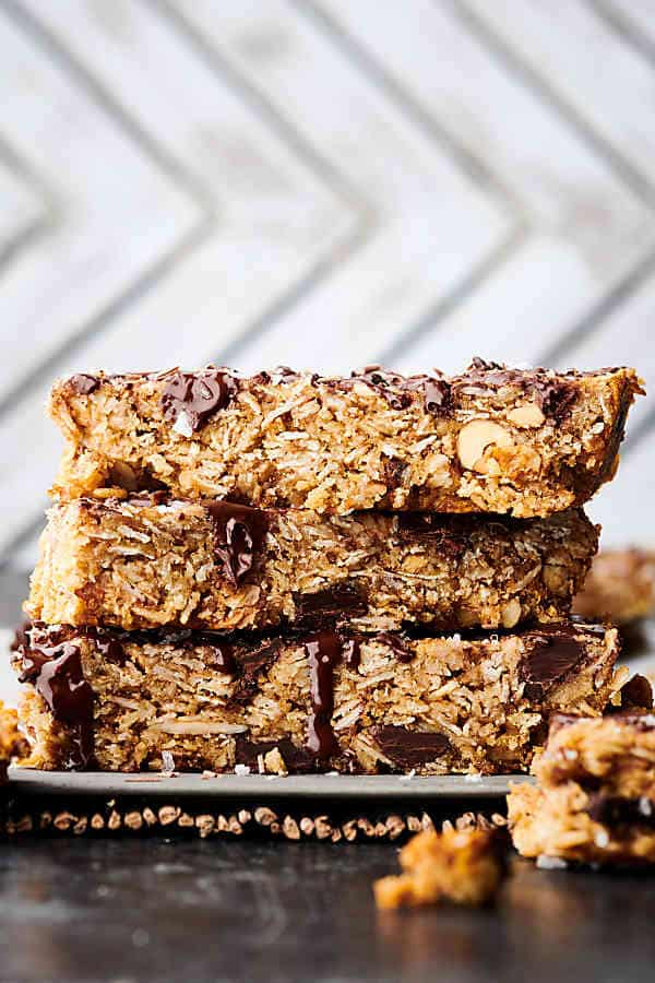 easy granola bar recipe stacked bars