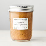 Mason jar of greek salad dressing