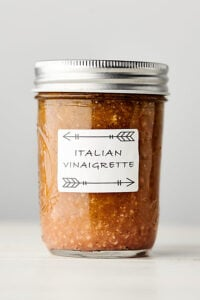 homemade italian dressing recipe white background