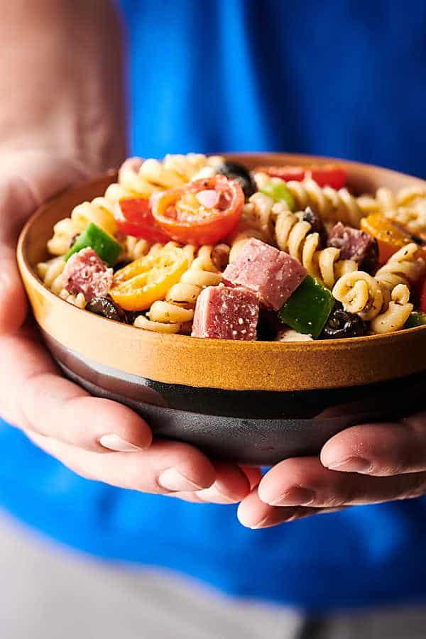 homemade italian dressing recipe in pasta salad