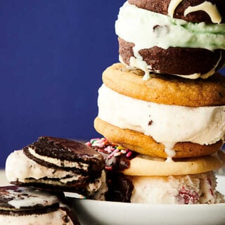 Ice Cream Cookie Sandwich stacked
