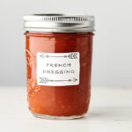 Mason jar of healthy homemade french dressing