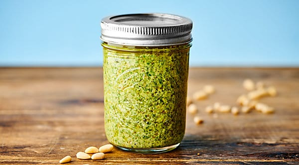 How to Make Easy Homemade Basil Pesto horizontal