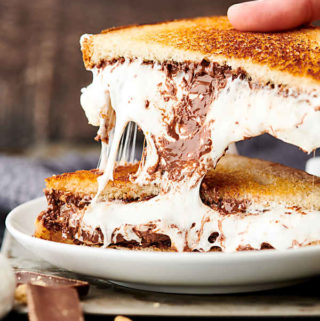 S'Mores Sandwich gooey marshmallow pull