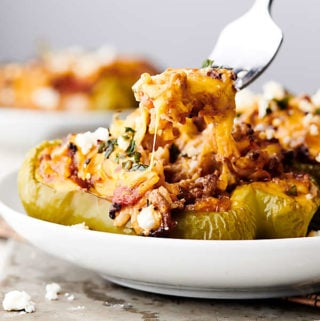 Cheesy Stuffed Peppers cheesy pull