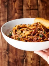 Instant Pot Spaghetti in bowl