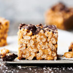 healthy peanut butter honey cheerio bars horizontal