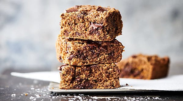 healthy zucchini oat bars horizontal