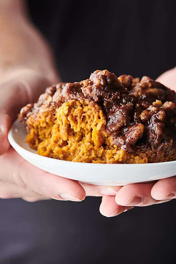 crockpot sweet potato casserole holding