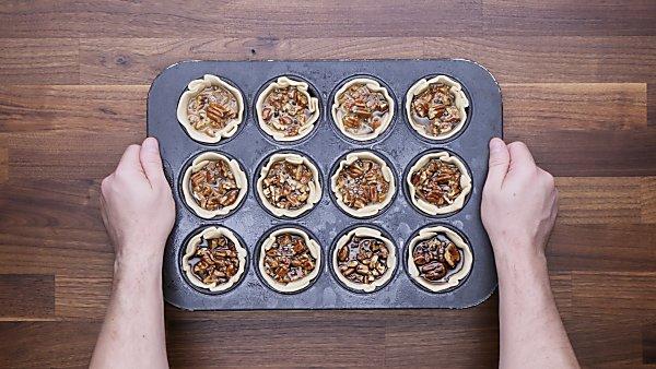 unbaked mini pecan pies