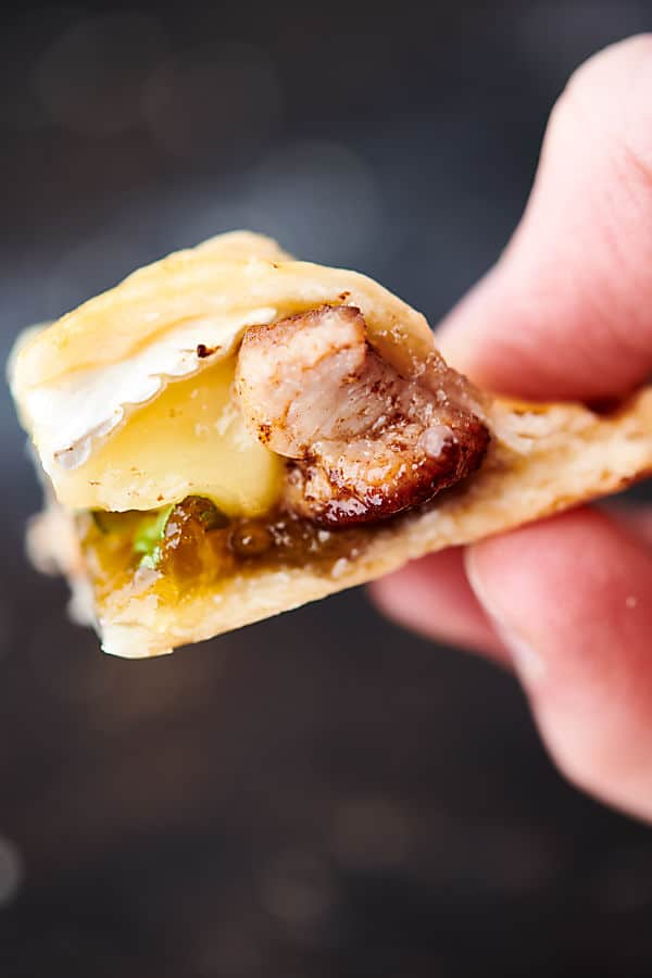 Pork, Brie, and Fig Hand Pies filling