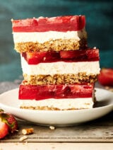 strawberry pretzel salad stacked