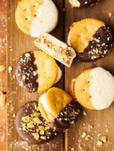 Ritz cracker cookies above