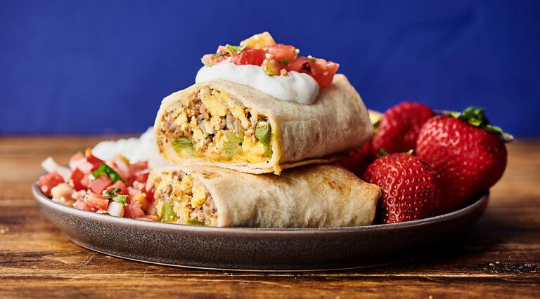 breakfast burritos horizontal