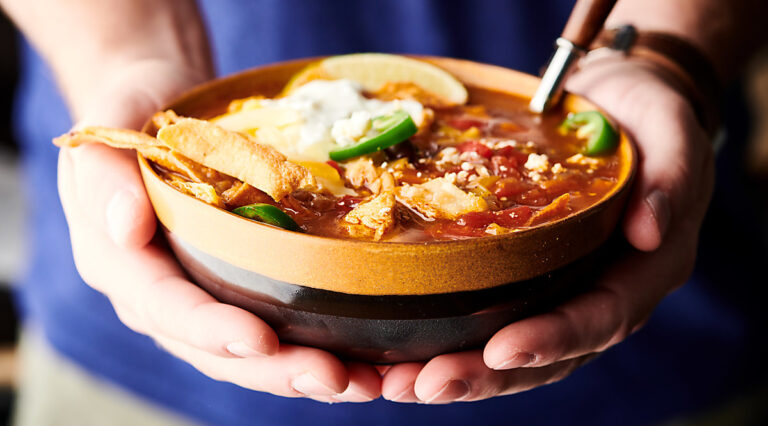 Instant Pot Chicken Tortilla Soup horizontal