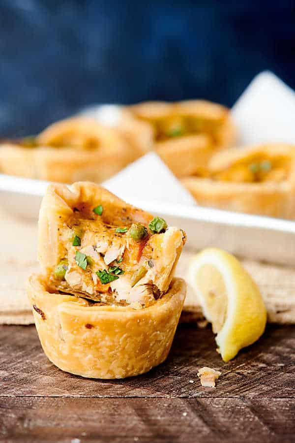 mini chicken pot pies with lemon